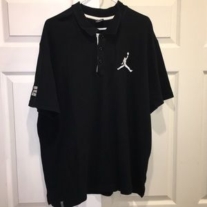Nike Air Jordan Mens Polo Shirt Black white 2XL